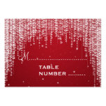 Wedding Placecards Night Dazzle Red Business Cards