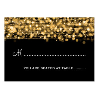 Wedding Placecards Party Sparkles Gold Large Business Cards (Pack Of 100)
