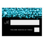 Wedding Placecards Party Sparkles Turquoise Business Card Templates