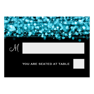 Wedding Placecards Party Sparkles Turquoise Large Business Cards (Pack Of 100)