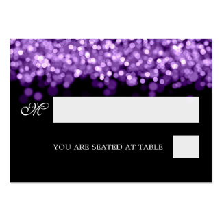 Wedding Placecards Purple Lights Business Card Templates
