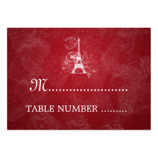 Wedding Placecards Romantic Paris Red Business Card Template