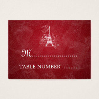 Wedding Placecards Romantic Paris Red Business Card