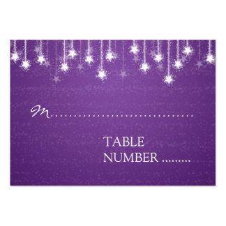Wedding Placecards Shimmering Stars Purple Business Card Template