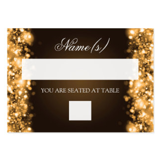 Wedding Placecards Sparkling Lights Gold Business Card Templates