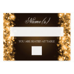 Wedding Placecards Sparkling Lights Gold Large Business Card