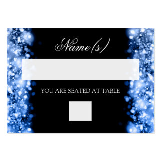 Wedding Placecards Sparkling Lights Sapphire Blue Business Card Templates