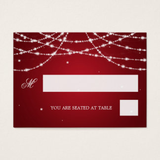 Wedding Placecards Sparkling String Red Business Card