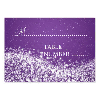 Wedding Placecards Sparkling Wave Purple Large Business Card