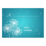 Wedding Placecards Summer Sparkle Turquoise Large Business Card
