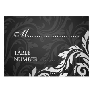 Wedding Placecards Swirly Flourish Black Large Business Cards (Pack Of 100)