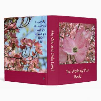 Wedding Plan Book! Pink Dogwood Flowers Brides Binder