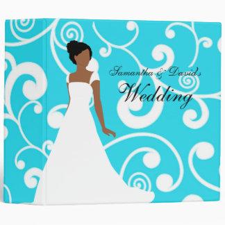 Wedding Planner African American Bride Turquoise Binder