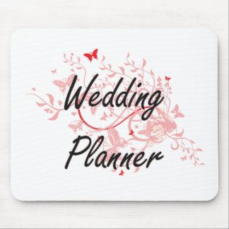 Wedding Planner Artistic Job Design with Butterfli Mouse Pad