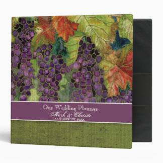 Wedding Planner Binder, Autumn Grapes & Leaf Binders