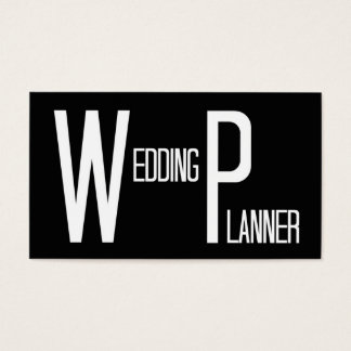 Wedding Planner Black Simple Business Card
