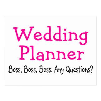 Wedding Planner Boss Postcard