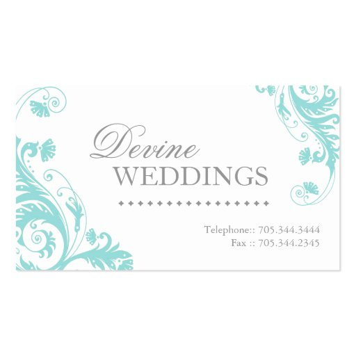 Wedding planner business card zazzle for Wedding planning business cards