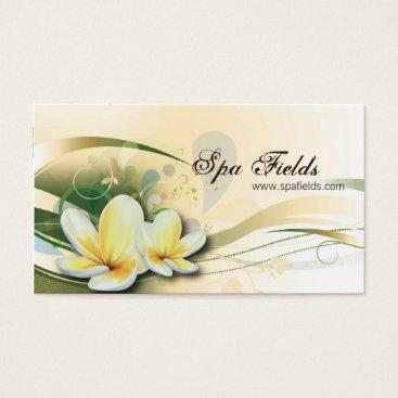 Professional Business Wedding Planner Business Card Cream Plumeria