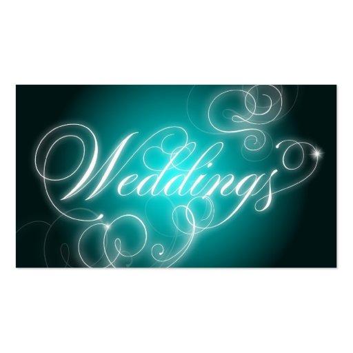Wedding Planner Business Card Elegant Flourish