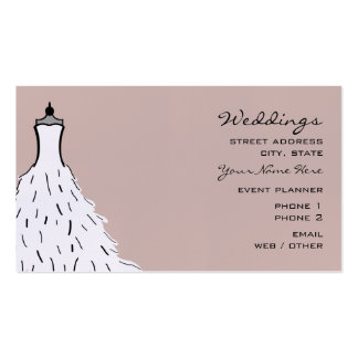 Wedding Planner Business Card - Feathery Dress