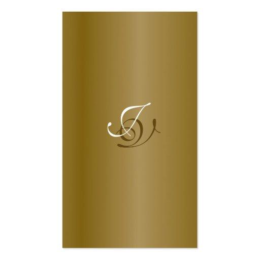 Wedding Planner Business Card Monogram Gold White