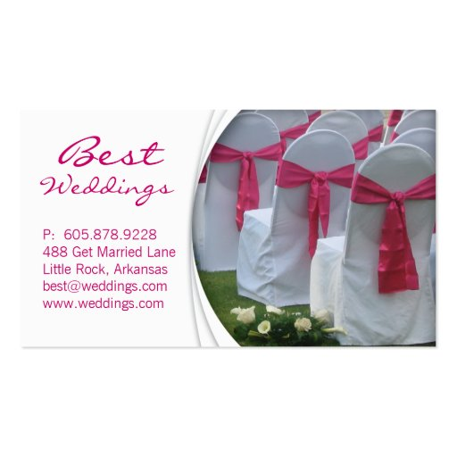 Wedding planner business card pink zazzle for Wedding planning business cards