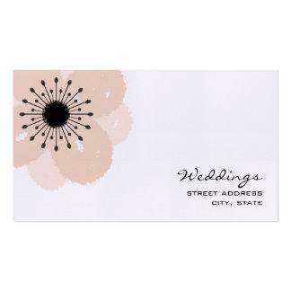 Wedding Planner Business Card - Pink Anemone