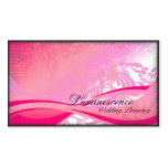 Wedding Planner Business Card Pink Floral Ribbon