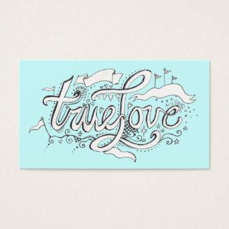 Wedding Planner Business Card True Love