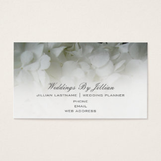 Wedding Planner Business Card - White hydrangeas
