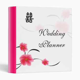 Wedding Planner Cherry Blossom Double Happiness 3 Ring Binder