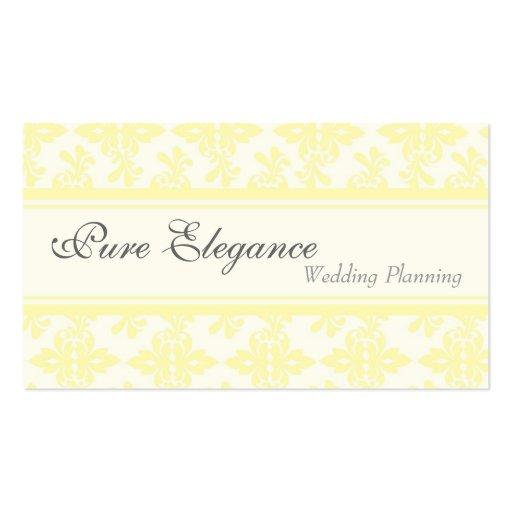 Wedding Planner Damask Filigree Business Card