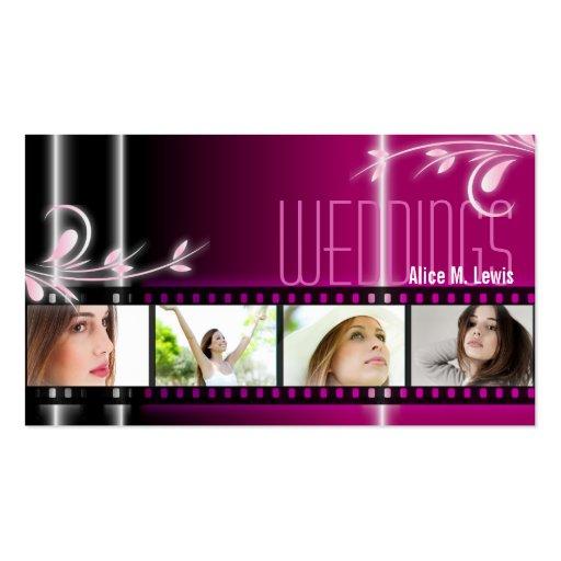 Wedding Planner Film Photo Business Card Pink