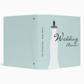 Wedding Planner - Fitted Strapless Wedding Dress 3 Ring Binder