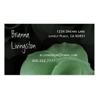 Wedding Planner GREEN Rose Business Card Template
