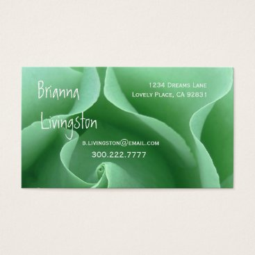Professional Business Wedding Planner GREEN Rose Business Card Template