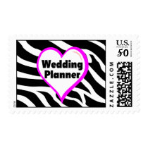 Wedding Planner (Heart Zebra Print) Postage