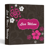 Wedding Planner hibiscus mocha 3 Ring Binder