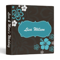 Wedding Planner hibiscus mocha Binder