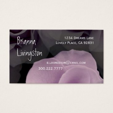 Professional Business Wedding Planner LILAC PURPLE Rose Template Business Card