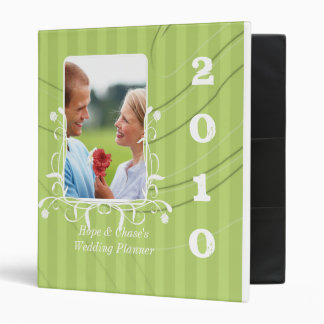 Wedding Planner Lime Striped Your Engagement Photo Vinyl Binders