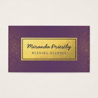 Wedding Planner Makeup Artist Magenta Gold Glitter Business Card
