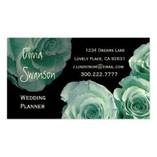 WEDDING PLANNER Mint Rose Business Card Template