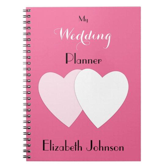 Wedding planner Notebook /  hot pink