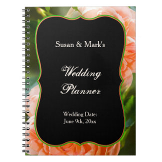 Wedding Planner Notebook - Peach Rose Collection
