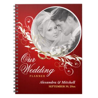 Wedding Planner or Guestbook with Custom Photo Spiral Notebook