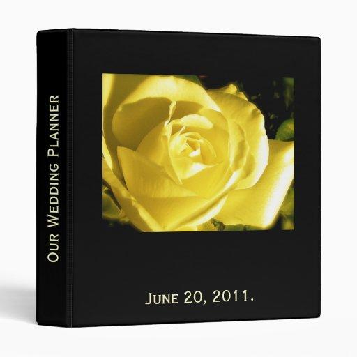 Wedding Planner Orange Rose Photo and Quote Binder