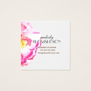 Professional Business Wedding Planner, Photo Floral Business Cards