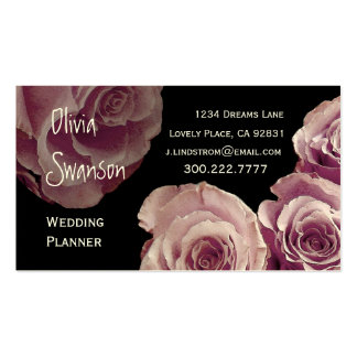 WEDDING PLANNER Pink Rose Business Card Template
